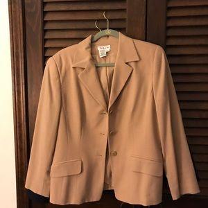 Talbots size 10 wool/Laine. Tan blazer